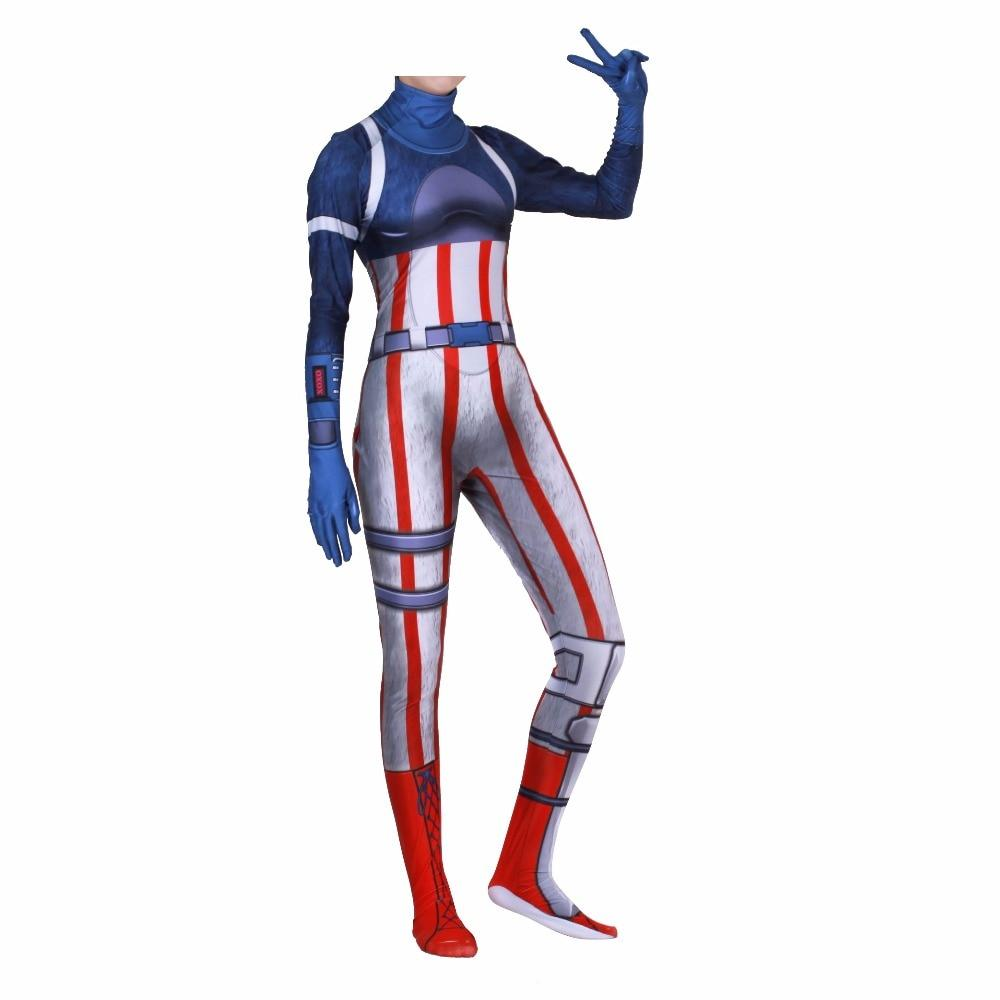 Fortnite Fireworks Team Leader Jumpsuit Halloween Cosplay Costume