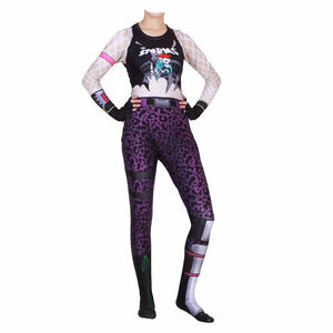 Fortnite Power Chord Jumpsuit Halloween Cosplay Costume