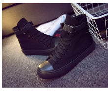 Load image into Gallery viewer, Kpop BTS SUGA 93 High Tops Casual Canvas Shoes Unisex Black Sneakers