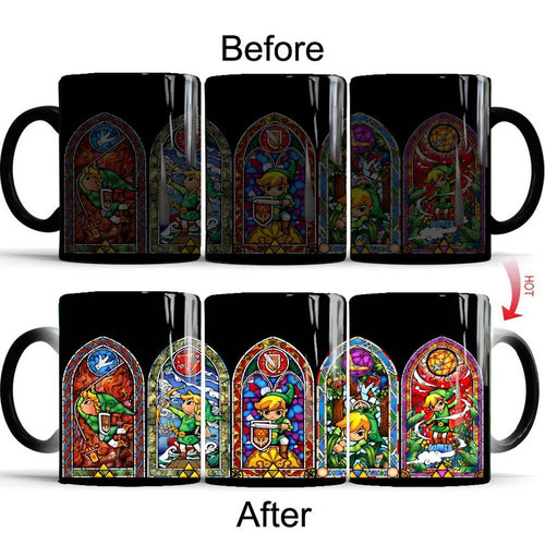 The Legend of Zelda #1 Coffee Tea Cup Changing Color Mug Christmas Gift