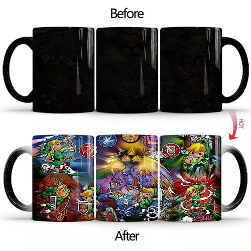 The Legend of Zelda #2 Coffee Tea Cup Changing Color Mug Christmas Gift