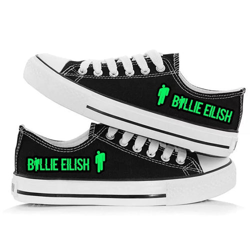 Billie Eilish Bellyache Classic Style #1 Casual Canvas Shoes Unisex Sneakers For Kids Adults