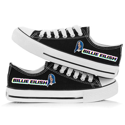 Billie Eilish Bellyache Classic Style #2 Casual Canvas Shoes Unisex Sneakers For Kids Adults