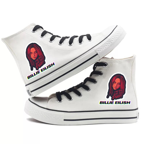 Billie Eilish Bellyache Classic Style #2 High Tops Casual Canvas Shoes Unisex Sneakers