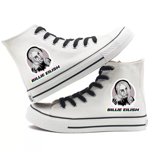 Billie Eilish Bellyache Classic Style #3 High Tops Casual Canvas Shoes Unisex Sneakers