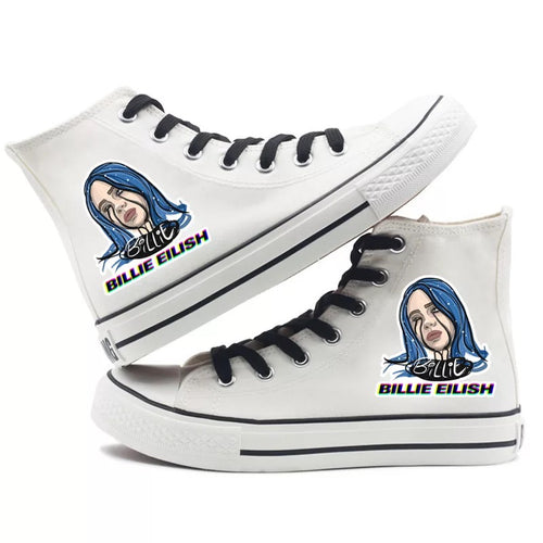 Billie Eilish Bellyache Classic Style #7 High Tops Casual Canvas Shoes Unisex Sneakers