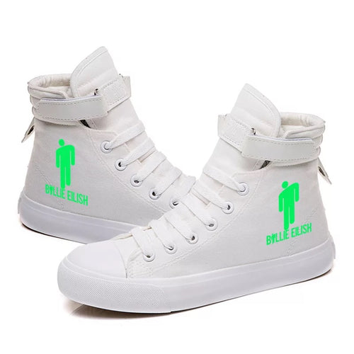 Billie Eilish Bellyache Classic Style  #2 Cosplay Shoes High Top Canvas Sneakers
