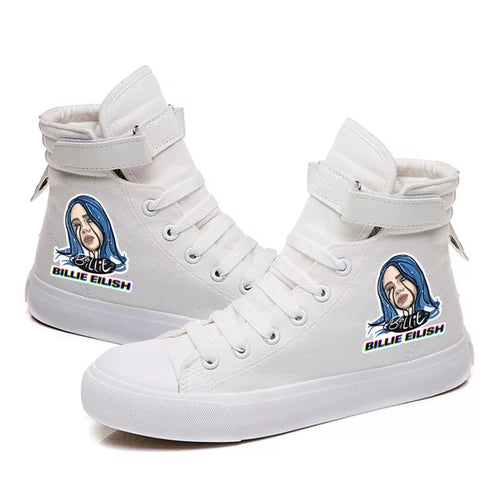 Billie Eilish Bellyache Classic Style  #4 Cosplay Shoes High Top Canvas Sneakers