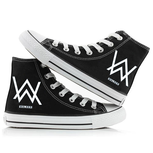 Hip Hop Alan Walker DJ #2 High Tops Casual Canvas Shoes Unisex Sneakers For Kids Adults Luminous