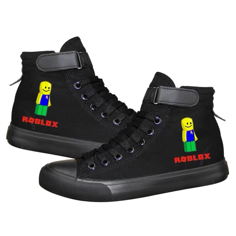 Game Roblox High Top Sneaker Cosplay Shoes For Kids
