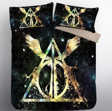 Load image into Gallery viewer, Harry Potter Hogwarts #2 Duvet Cover Quilt Cover Pillowcase Bedding Set Bed Linen Home Decor