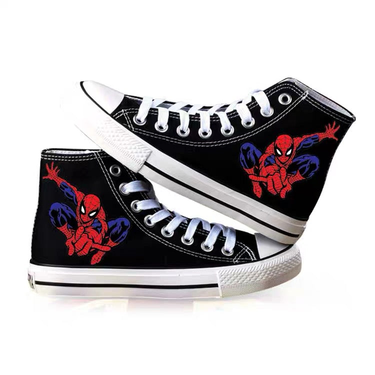 Spider-Man Far From Home High Top Canvas Sneakers Cosplay Shoes For Kids