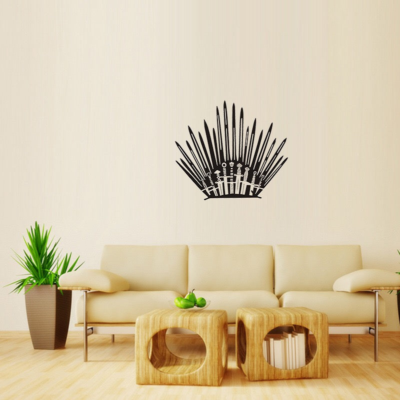 Game Of Thrones Iron Throne Wall Decor Peel Stick Poster Decals