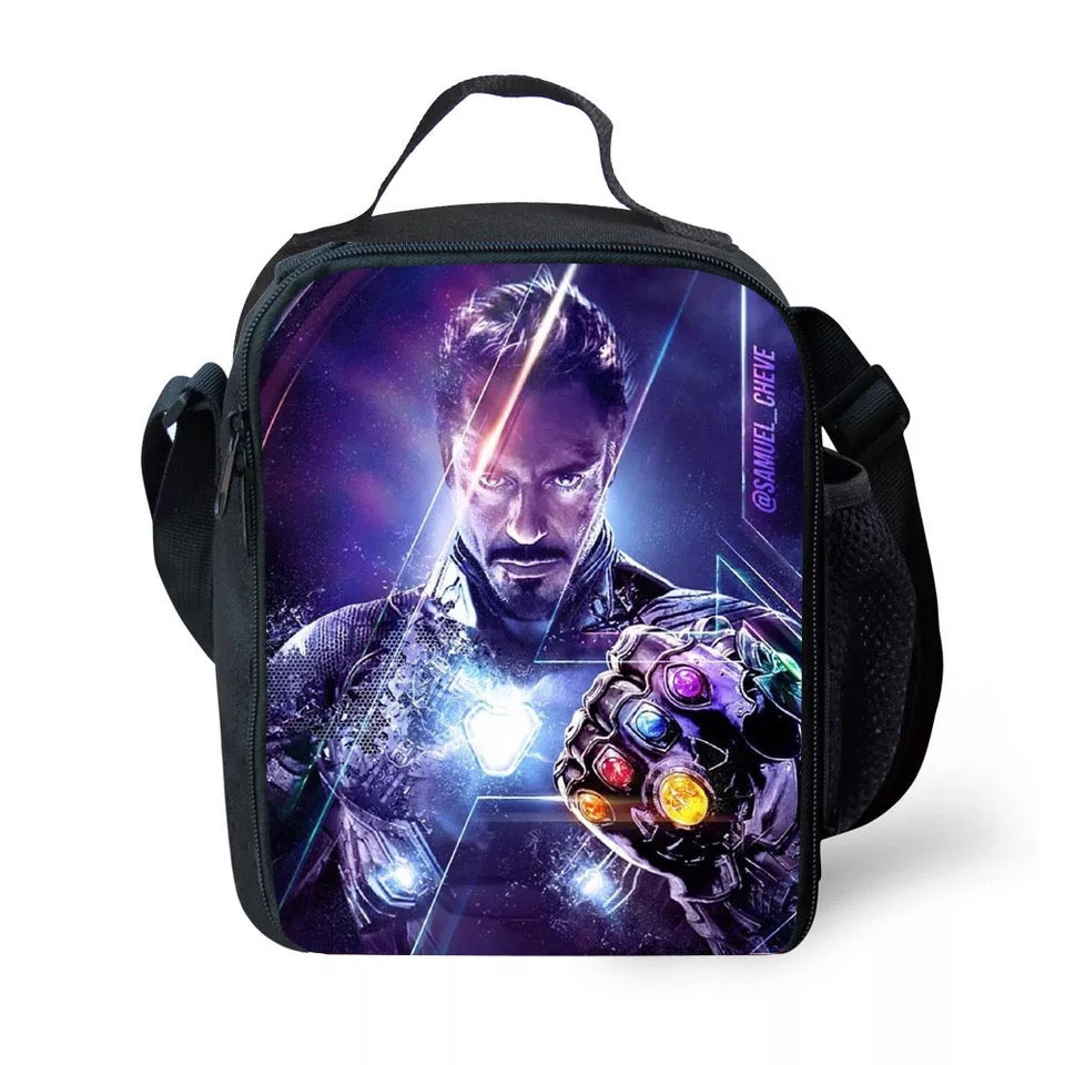 Avengers 4 Endgame Iron Man Infinity Gauntlet Lunch Box Bag Lunch Tote