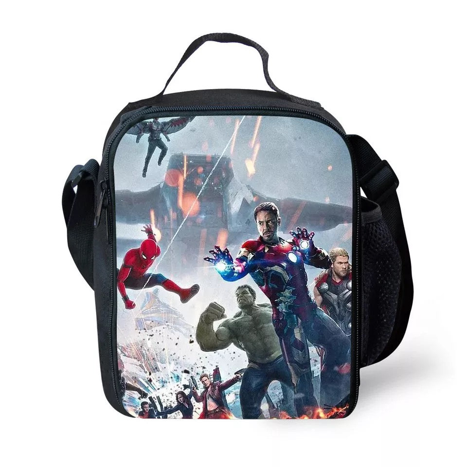 Avengers Endgame Iron Man Spider-Man Infinity Gauntlet Lunch Box Bag Lunch  Tote