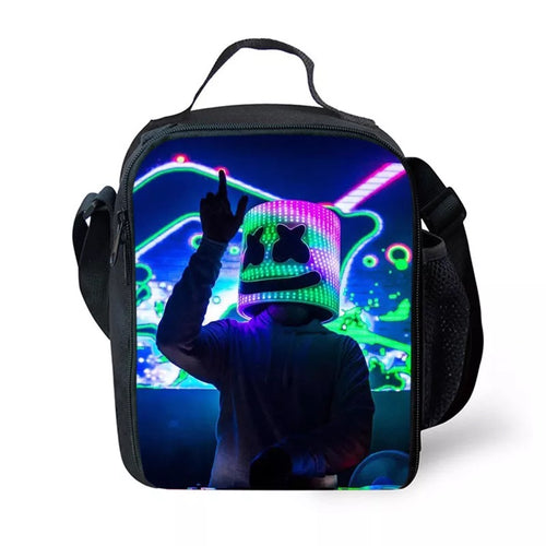 Fortnite Marshmello DJ Party  Insulated Lunch Bag for Boy Kids Thermos Cooler Adults Tote Food Lunch Box