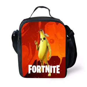 Fortnite Season 8 Peely Banana Insulated Lunch Bag for Boy Kids Thermos Cooler Adults Tote Food Lunch Box
