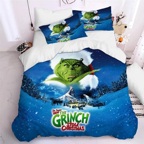 How the Grinch Stole Christmas #11 Duvet Cover Quilt Cover Pillowcase Bedding Set Bed Linen Home Decor