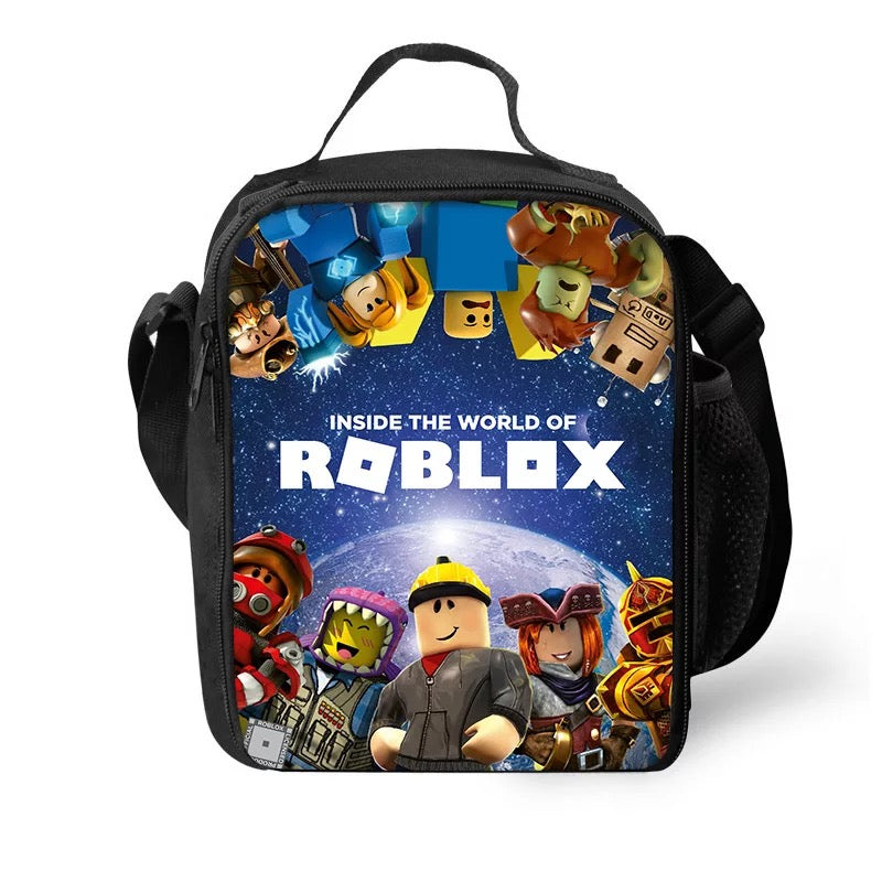 Roblox Insulated Lunch Bag for Boy Kids Thermos Cooler Adults Tote Food Lunch Box