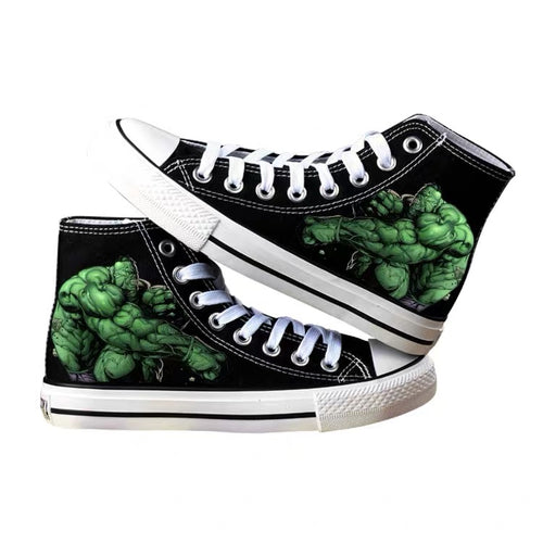 Avengers Hulk High Tops Casual Canvas Shoes Unisex Sneakers For Kids