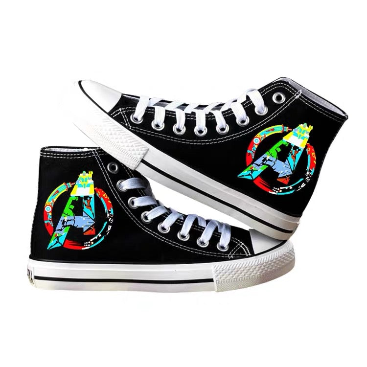Marvel's The Avengers High Tops Casual Canvas Shoes Unisex Sneakers For Kids