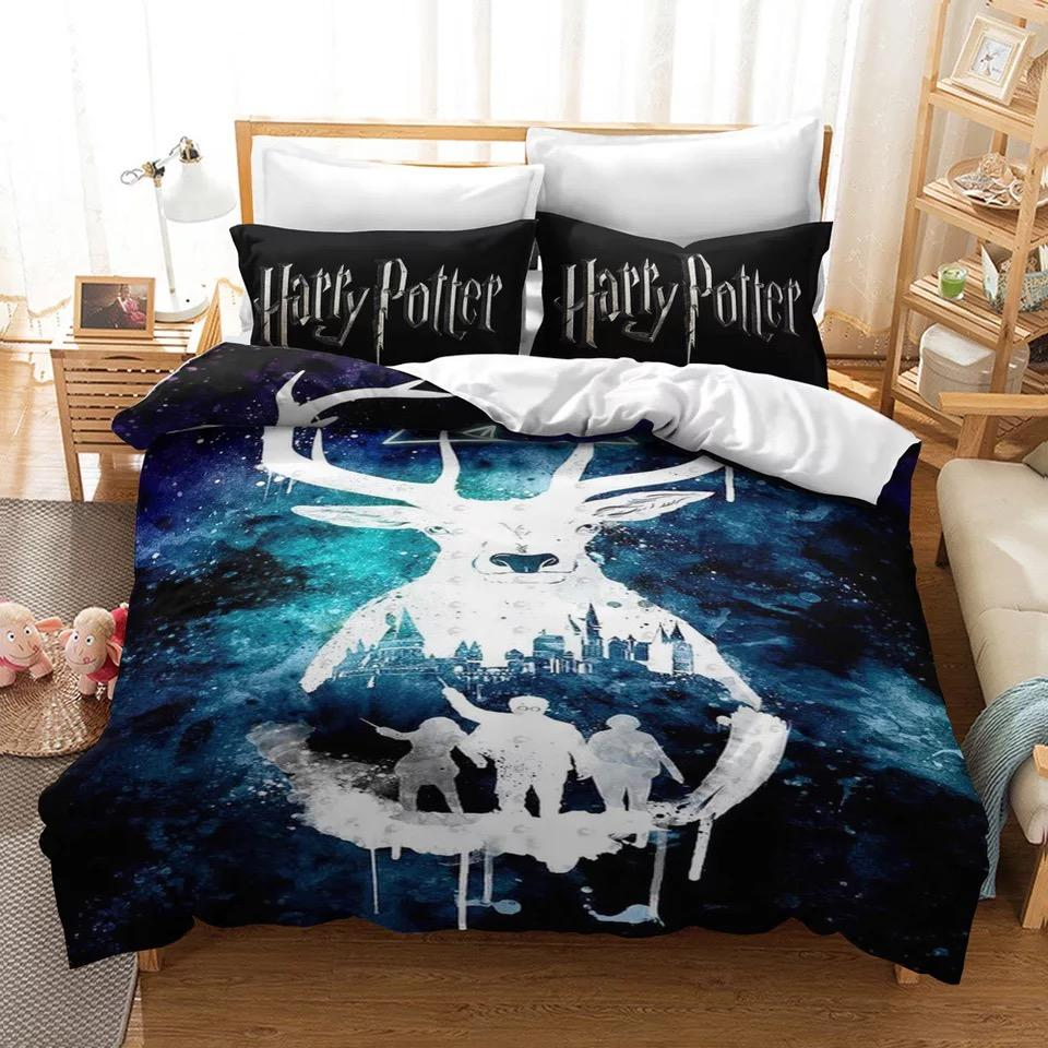 Harry Potter Galaxy Logo #34 Duvet Cover Quilt Cover Pillowcase Bedding Set Bed Linen Home Decor