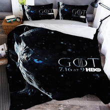 Load image into Gallery viewer, Game of Thrones Night's King Bedding Set Duvet Cover Set Bedroom Set Bedlinen 3D Printing