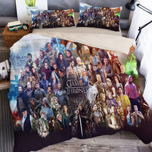 Load image into Gallery viewer, Game of Thrones Bedding Set Duvet Cover Set Bedroom Set Bedlinen 3D Printing