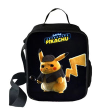 Load image into Gallery viewer, Pokemon Detective Pikachu Insulated Lunch Bag for Boy Kids Thermos Cooler Adults Tote Food Lunch Box