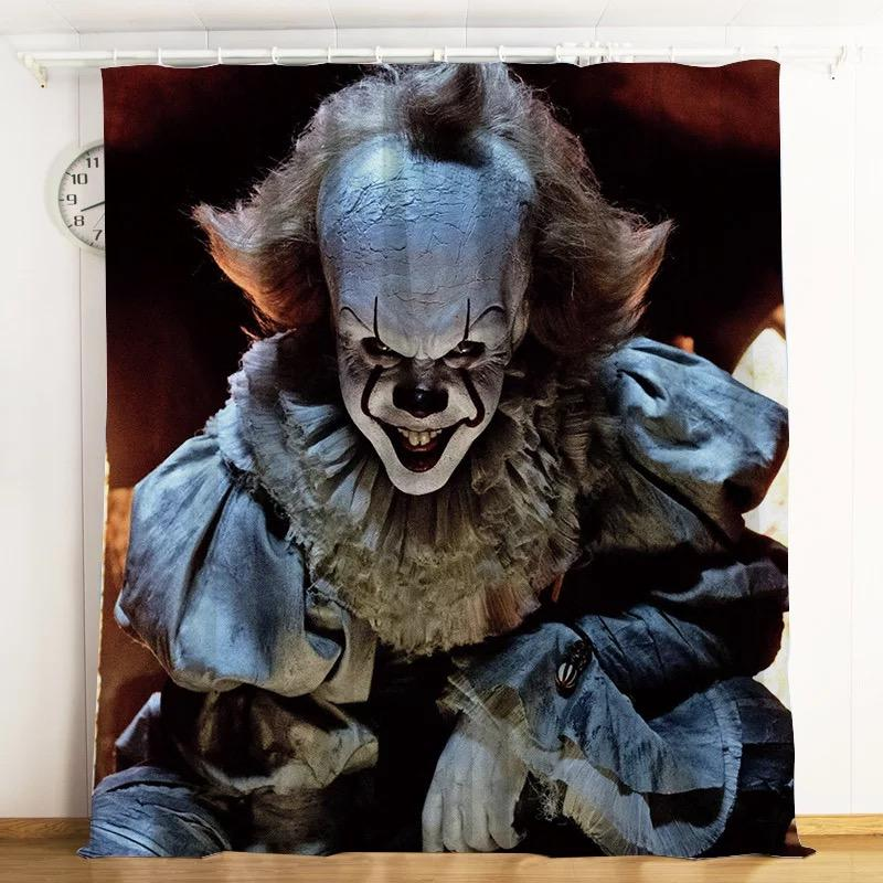 2019 Stephen King IT Chapter Two 2 Pennywise Scary Clown #3 Blackout Curtains For Window Treatment Set For Living Room Bedroom