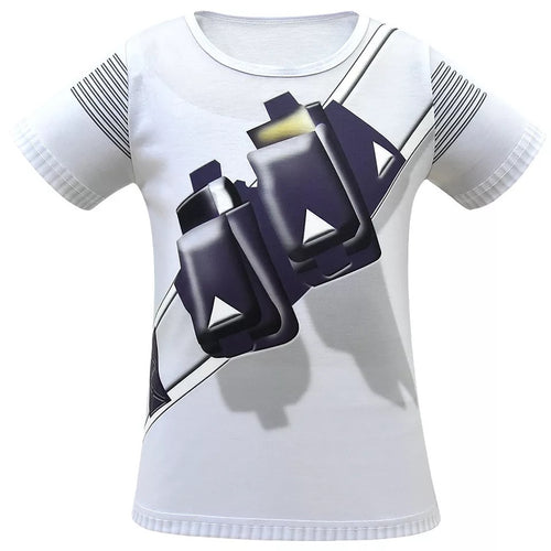 Fortnite Marshmello DJ Party Short Sleeve Shirts Cosplay Costume For Kids