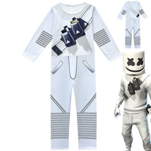 Load image into Gallery viewer, Fortnite Marshmello DJ Party Cosplay Costume Halloween Zentai Jumpsuit For Kids