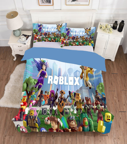 Game Roblox Team Bedding Set Duvet Cover Set Bedroom Set Bedlinen 3D Bag For Kids