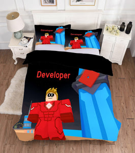 Game Roblox Developer Bedding Set Duvet Cover Set Bedroom Set Bedlinen 3D Bag For Kids