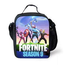 Load image into Gallery viewer, Fortnite Season 9 Avengers Lunch Box Insulated Lunch Bag for Boy Kids Thermos Cooler Adults Tote