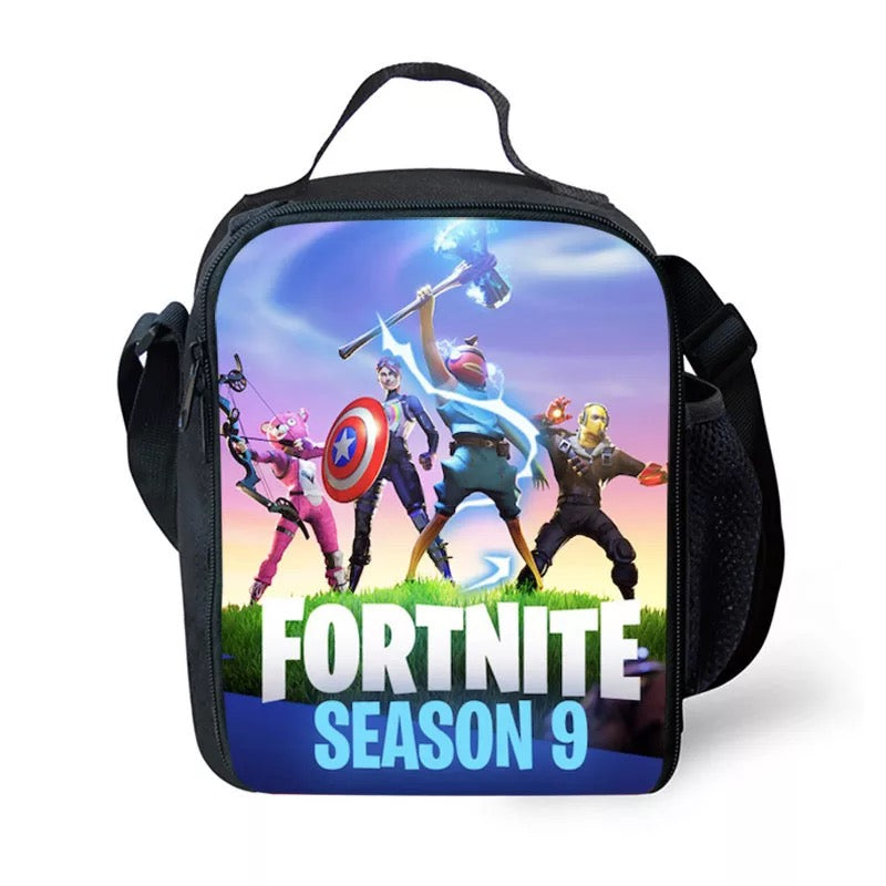 Fortnite Season 9 Avengers Lunch Box Insulated Lunch Bag for Boy Kids Thermos Cooler Adults Tote
