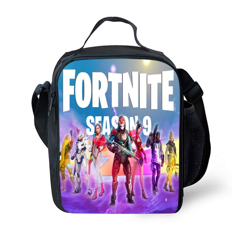 Fortnite Season 9 Lunch Box Insulated Lunch Bag for Boy Kids Thermos Cooler Adults Tote 02