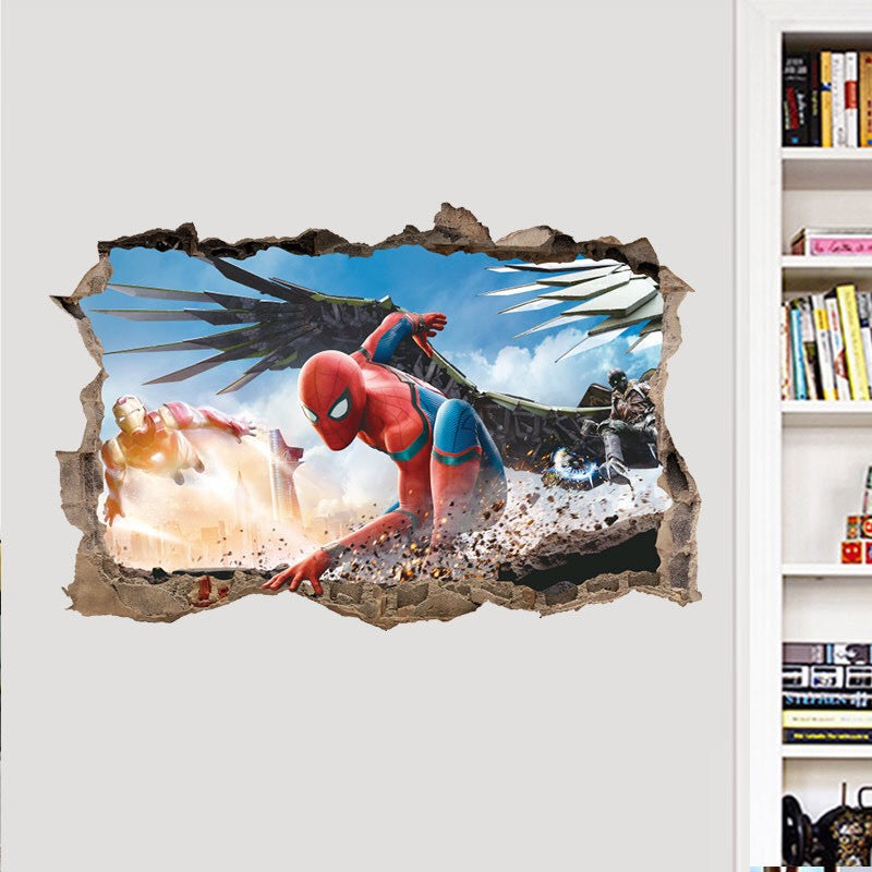 Spider-Man Homecoming Wall Decor Peel & Bedroom Stick Poster Decals