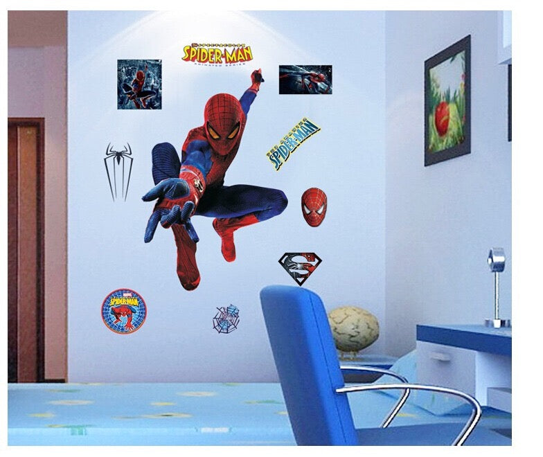 Spider-Man Wall Decor Peel & Bedroom Stick Poster Decals