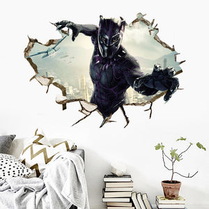 Marvel Black Panther Wall Decor Peel & Bedroom Stick Poster Decals