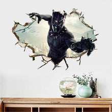 Load image into Gallery viewer, Marvel Black Panther Wall Decor Peel & Bedroom Stick Poster Decals