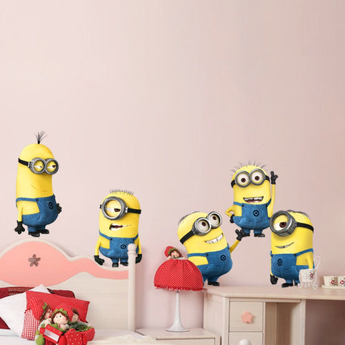 Despicable Me Minions Wall Decor Peel & Bedroom Stick Poster Decals