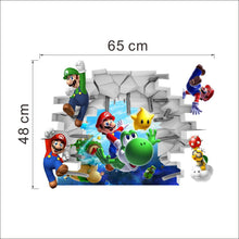 Load image into Gallery viewer, Super Mario Wall Decor Peel & Bedroom Stick Poster Decals