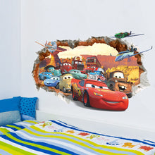 Load image into Gallery viewer, Cars Lightning McQueen Wall Decor Peel & Bedroom Stick Poster Decals