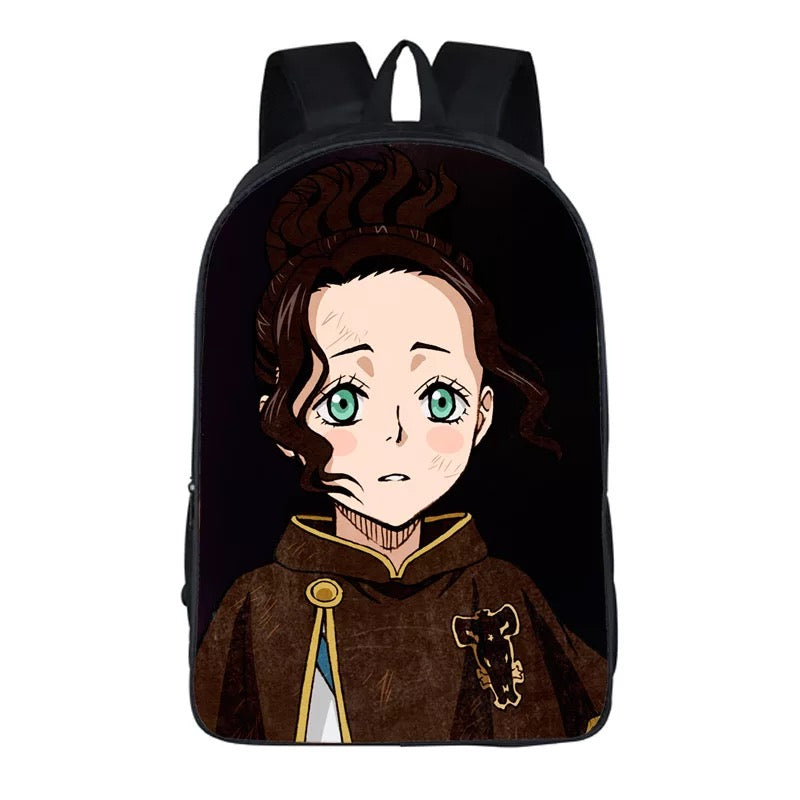 Anime Black Cover Backpack School Sports Bag 8