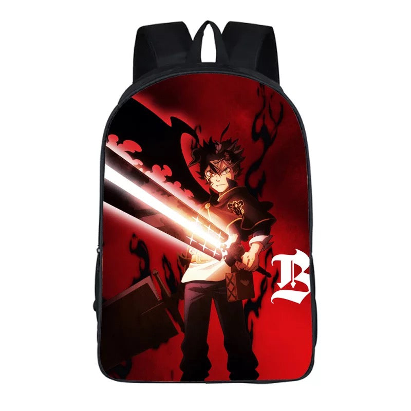 Anime Black Cover Backpack School Sports Bag 10