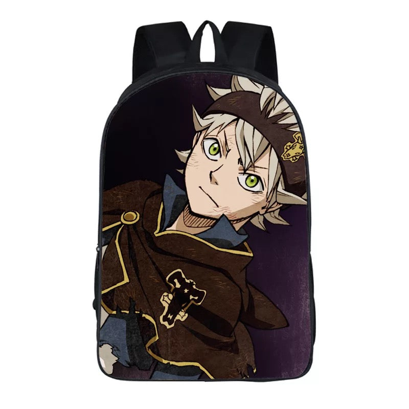 Anime Black Cover Backpack School Sports Bag 17