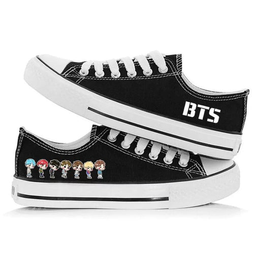 Kpop BTS BT21 Casual Canvas Shoes Unisex Sneakers For Kids
