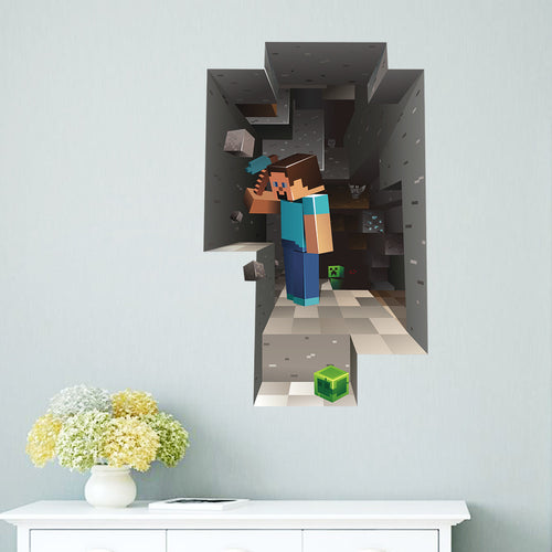 Minecraft Wall Decor Peel & Bedroom Stick Poster Decals