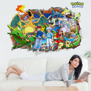 Anime Pocket Monster Pokemon Go Pikachu #1 Wall Decor Peel & Bedroom Stick Poster Decals